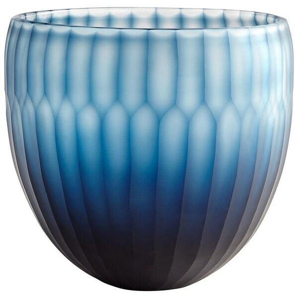 "Cyan Design Large Tulip Bowl Tulip 8.25"" Diameter Glass Decorative Bowl - Blue"