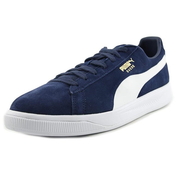 Puma Suede Ignite Men Round Toe Suede Blue Sneakers - Free Shipping ... a0cf70328