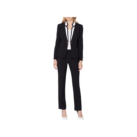 Tahari ASL Womens Petites Pant Suit Colorblock 2-Pc - 6P