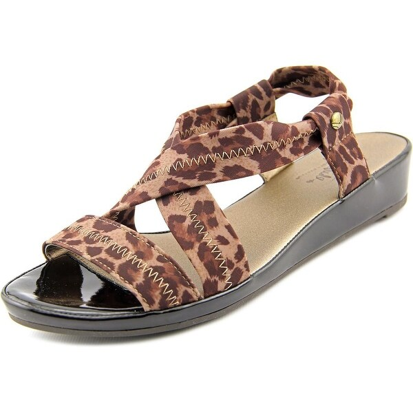 Life Stride Debutante Women Open Toe Synthetic Brown Wedge Sandal