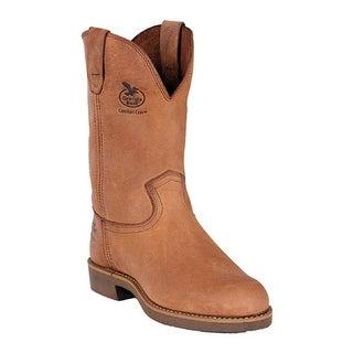 "Georgia Boot Men's G58 11"" Wellington Comfort Core Chestnut Prairie SPR Leather"