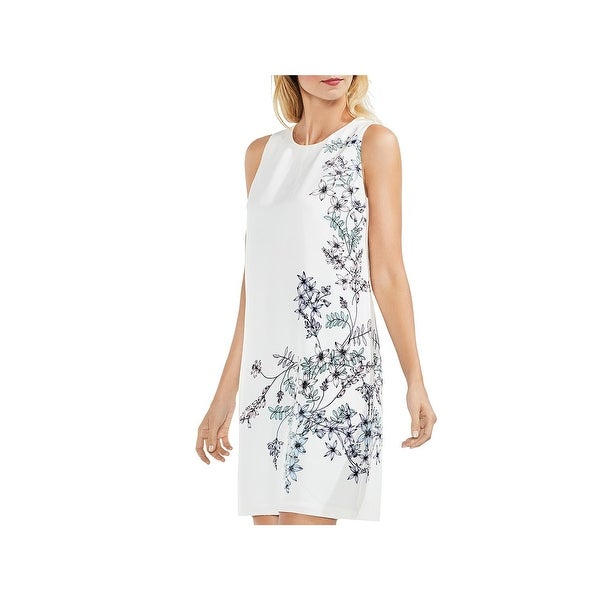 Vince Camuto Womens Spring Romance Mini Dress Satin Floral Print