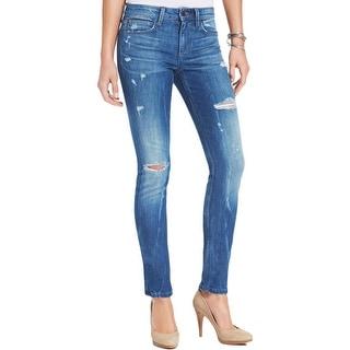 Joe's Jeans Womens Skinny Jeans Destoryed Stone Wash