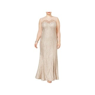 Xscape Womens Plus Evening Dress Lace Embellished - 16W