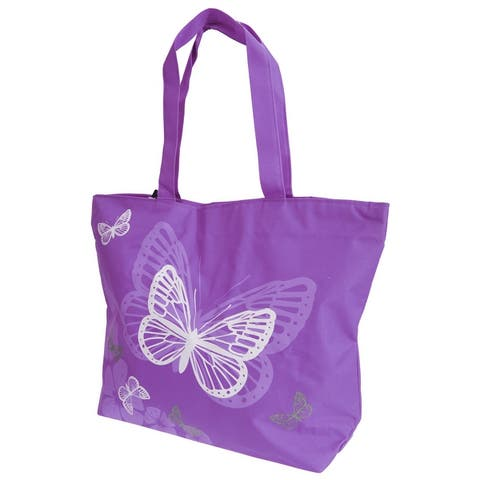 Floso Womens/Ladies Floral Butterfly Design Handbag - One Size