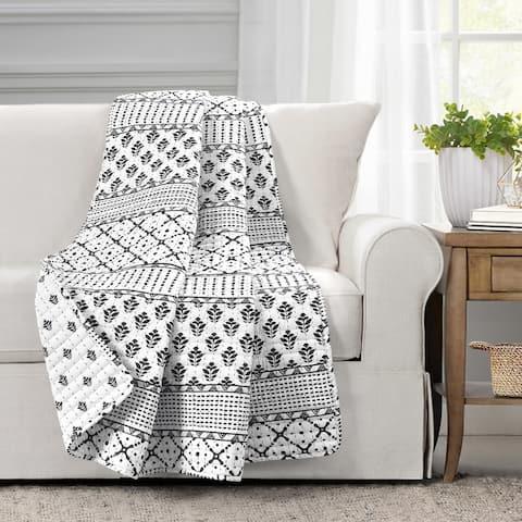 Lush Decor Monique Stripe Throw Blanket