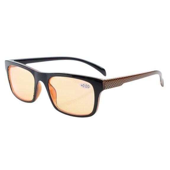 Eyekepper UV Protection,Anti Glare/Blue Rays,Orange Tinted Lenses Reading Glasses Readers Men Women+3.0