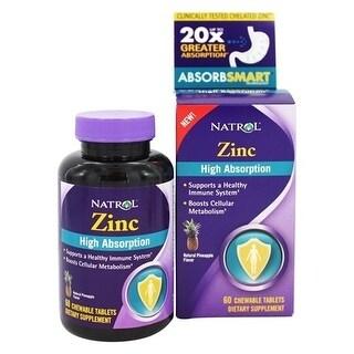 Natrol Zinc Chew Tab High Absorb (60 Tablets)