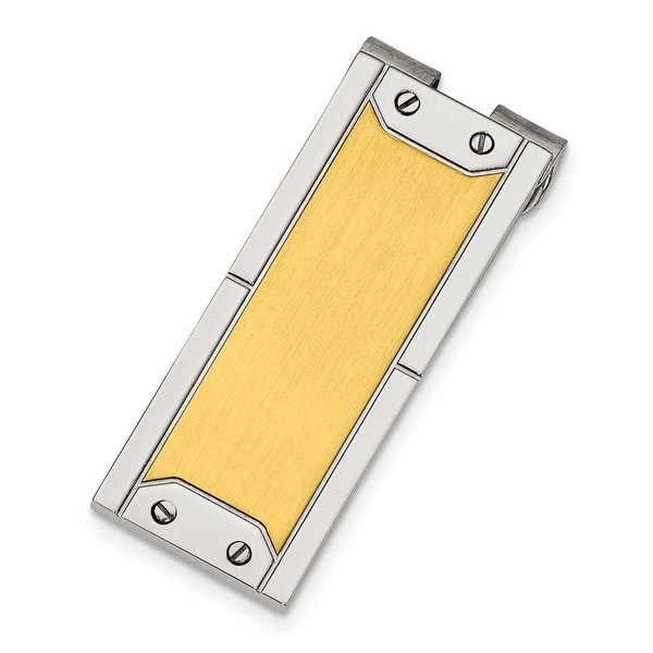 Chisel Gold-Plated Polished Stainless Steel Money Clip