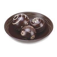 Umber Decorative Balls Set