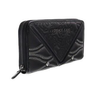 Versace EE3VOBPK2 E899 Black Multifunction Wallet - 7.5-4.25-1