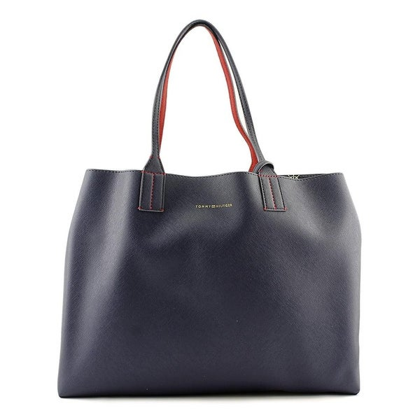 Tommy Hilfiger Th Reversible Tote Women Leather Blue Tote