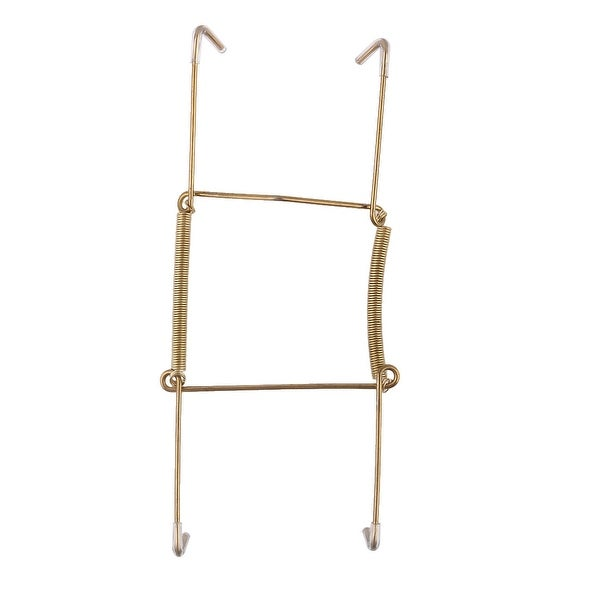 Metal 6 to 7 Inch Spring Plate Hangers Wall Rack Holder Hook Display - Gold Tone. Opens flyout.