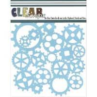 "Gears - Clear Scraps Stencils 6""X6"""