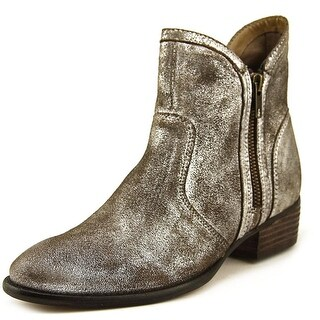 Seychelles Lucky Penny III Women Round Toe Leather Bronze Bootie