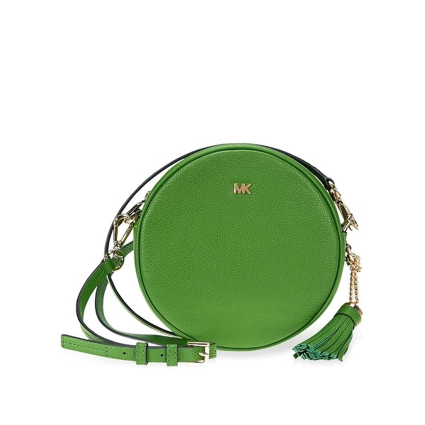 c8edc56b6d5d MICHAEL Michael Kors Pebble Leather Medium Canteen Crossbody Bag True Green Gold  - One size