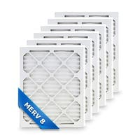 High Quality Pleated Furnace Air Filter 16x16x1 Merv 8 (6-Pack)