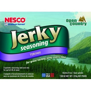 Nesco BJT-6 Jerky Spice Works, Teriyaki Flavor, Includes 3 Seasoning and 3 Cure Packets