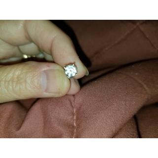 14k White Gold 1ct TDW Diamond Screw Back Studs