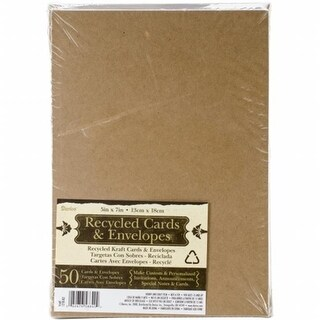 A7 Cards & Envelopes (5 X7 ) 50/Pkg-Kraft