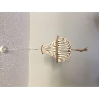 SAFAVIEH Lighting Kristi 3-light Cream Adjustable Beaded Pendant Lamp