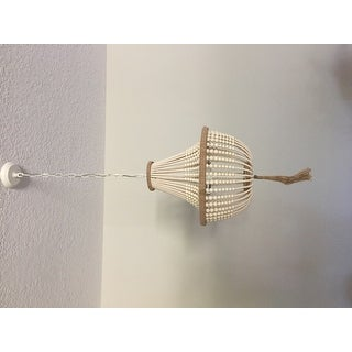 Safavieh Lighting 16.5-inch Lush Kristi 3-light Cream Beaded Pendant