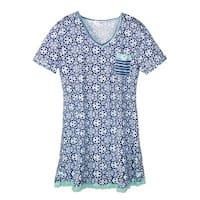 Sag Harbor Women's Plus Size V Neck Nightgown