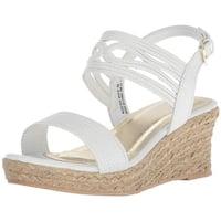 Kenneth Cole Reaction Girls reed day Buckle Ankle Strap Platform Sandals