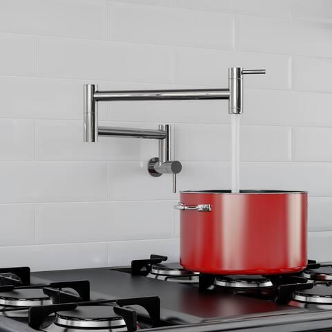 ALFI AB5019-PSS Polished Retractable Pot Filler Faucet