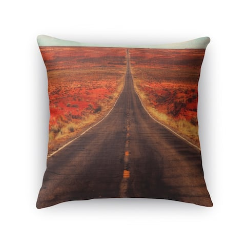 Kavka Designs grey/ red/ blue/ gold the long way home accent pillow with insert