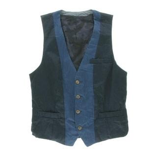 Zara Mens Cotton Colorblock Casual Vest