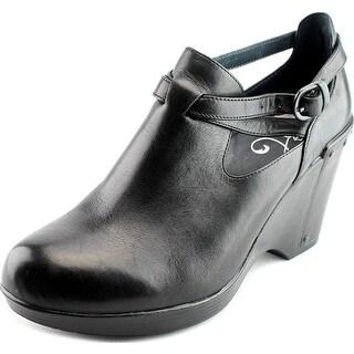 Dansko Franka Women Round Toe Leather Black Clogs