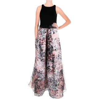 Aidan Mattox Womens Evening Dress Mesh Printed