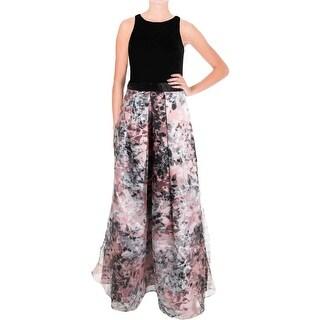Aidan Mattox Womens Ponte Prom Formal Dress