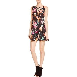 Minkpink Womens Casual Dress Floral Print Fit & Flare