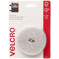 "Velcro 90087 Sticky Back Tape, 3/4"" x 5', White"