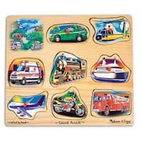 Melissa & Doug 725 Vehicles Sound Puzzle