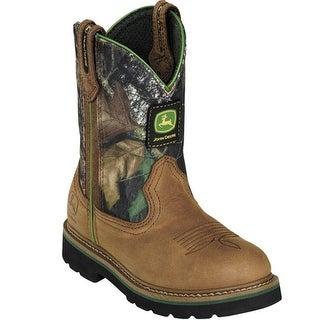 John Deere Toddler Kids Green Camo Cowboy Waterproof Boots 8.5-3