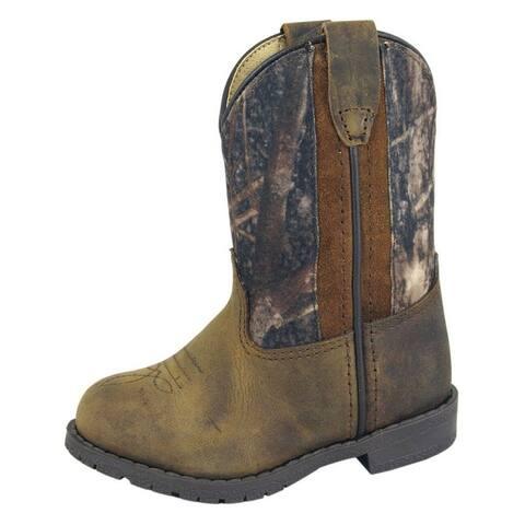 Smoky Mountain Western Boots Boys Hopalong Pull On Brown Camo