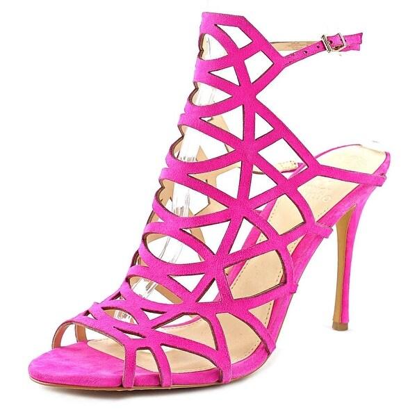 Vince Camuto Kristana Women Open Toe Suede Pink Sandals