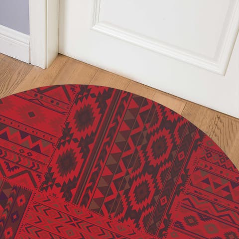 PATCHWORK TAHOE RUBY RED Indoor Floor Mat by Kavka Designs