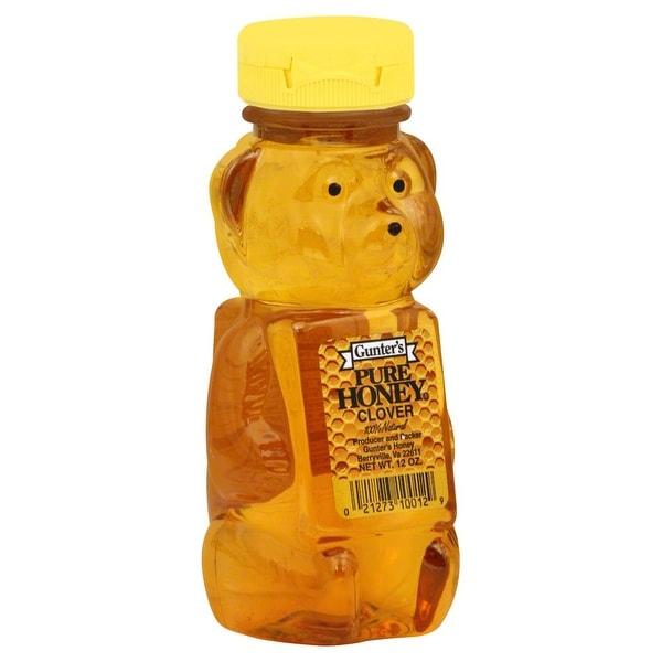 Gunter Pure Clover Honey - Case of 12 - 12 oz