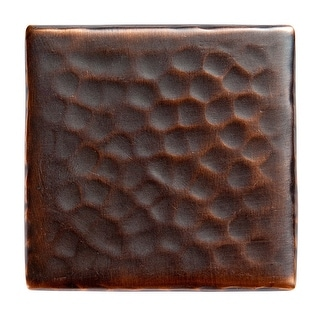 """The Copper Factory CF143  2 x 2 x 1/4"""" Solid Hammered Copper 2""""x2"""" Decorative Accent Tile"""