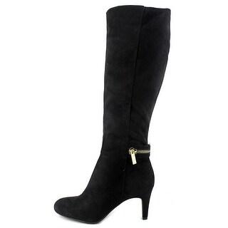 BCBGeneration Womens Rigbie Almond Toe Knee High Fashion Boots, Black, Size 7.5