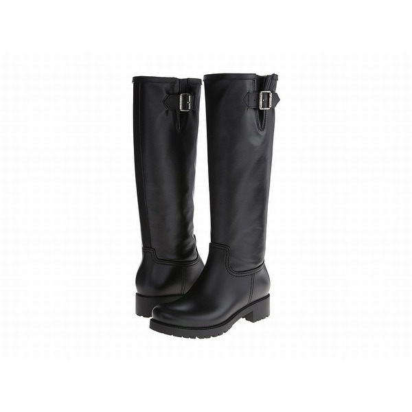 MM6 Black Margiela Shoes Size 5M Knee-High Leather Boots