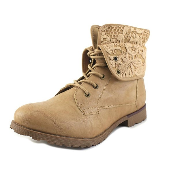 Rock & Candy Spraypaint Lace Light Tan Boots