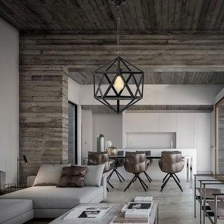 Gymax Industrial Metal Pendant Hanging Lighting Fixture Ceiling Chandelier One-Light