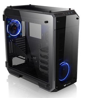 Thermaltake View 71 4-Sided Tempered Glass Vertical Gpu Modular Spcc E-Atx Gaming Full Tower Computer Case With 2 Blue L