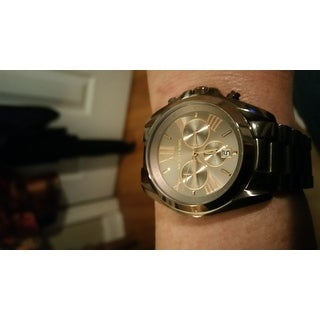 Michael Kors Women's MK6247 'Bradshaw' Chronograph Brown Stainless Steel Watch