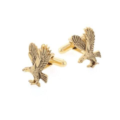 Antiqued Gold Eagle Cufflinks